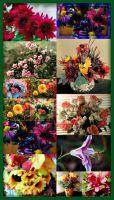 flower collage by bewilderedconfused