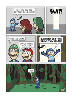 Despondent Mega Man - Island of Misfit Games 4 by JesseDuRona