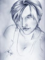 Portrait with Blue by LiliththeSilent