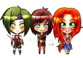 Chibi Set by FrostedTea