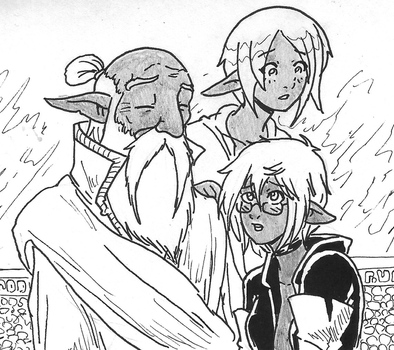 Oracle, Priestess and Sorceress by Shabazik
