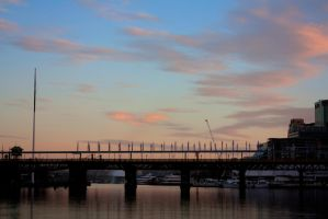 Darling Harbour Sunrise - Flags by Lori-P-Photography