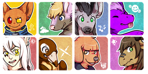 Icons Commissions Batch 8 by chubird