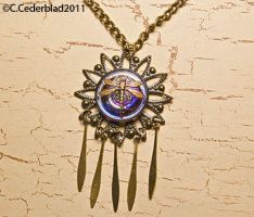 Dragonfly necklace by skuggsida