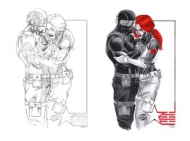 snake eyes and scarlett by juancastroinker