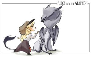 Alice and Gryphon by kayjkay