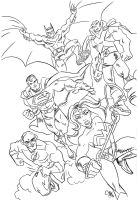 JLA Team sketch by scootah91