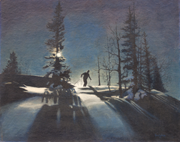 Night Skiing by The-Tinidril