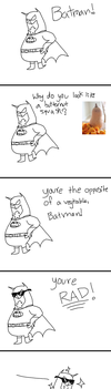 Batman is NOT a Vegetable. by bano--kagi