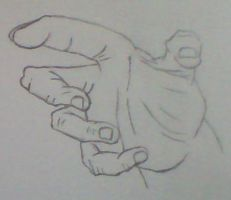 Drawing hands - Semi-pointing 3 by Kakalot