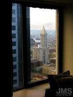 Smith Tower from Hotel Window by steeber