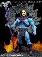 Filmation Skeletor Custom MOTUC Figure by ACCustomFiguresACCF