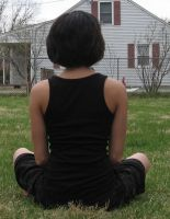 Sitting Girl Stock 3 by moonfreak-stock