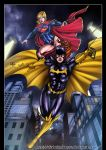Batgirl Supergirl by diabolumberto