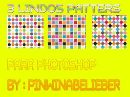 3 LINDOS PATTERS by Pinwinabelieber