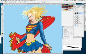 Super Girl Daily Sketch WIP by mvitacca