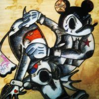 Mickey mouse gone bad by TattooartSB