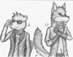 Dr. Coy and Dan - Art Trade by EssZX