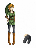 Female Link colored - Unfin by KaoruSaiga