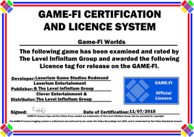 Game-Fi Worlds Game-Fi Certificate by LevelInfinitum