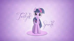 Twilight Sparkle Minimal Wallpaper by Prollgurke