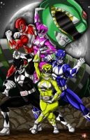 Mighty Morphin Power Rangers by WiL-Woods