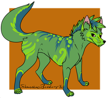 Wolf Design for Psychotic-Mutt by SchneckenBeckons