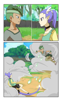 Unexpected battle by HikariAlien