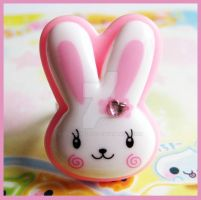 Kawaii Bunny Ring by cherryboop