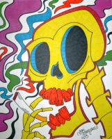Cigarette Skull by ToniTiger415