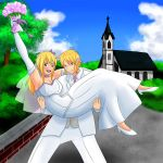 Request - The Happy Newlyweds Lucy + Link by Jediahndii