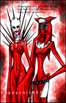Scarlet and Battle Nun doodle by Cageyshick05