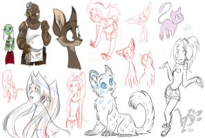 Sketch Dump Feb by espie