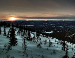 Yukon Sunset by DTherien