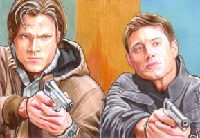 Winchesters With Guns by SarahSilva