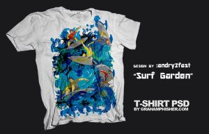 surf garden on tee addicts by andry2fast