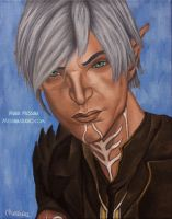 Broody Elf - Fenris by miz-mezzy