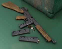M1938 Thompson Sub-MachineGun by subaru01rins