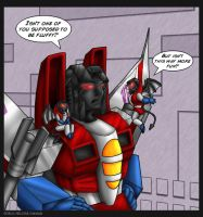 Starscream's conscience by WaywardInsecticon