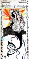 Mermaid bookmark side one by avadaxxxkedavra