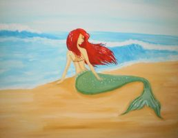 Ariel by the Sea by green0eyes