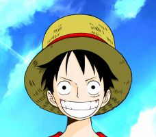 Luffy Smile by NicoRobin67