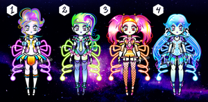Outer Space Sailor Senshi Batch Adoptables CLOSED by YukiMiyasawa