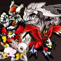 Hawkmon Evolution by ChaoticAngel93