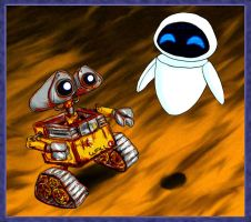 WALL E and EVE by Fadri