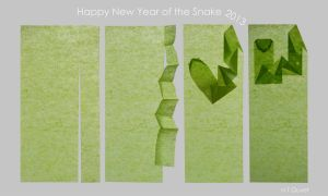[Origami] Happy New Year of the Snake 2013 by HTQuyet