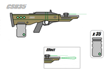 Cyrux Space Rifle by Artmarcus