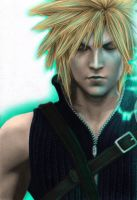 FinalFantasyVII- Cloud Colored by harkus