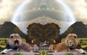 Lion Twins.. Art Work by arihoff