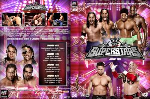 WWE Superstars 2013 January DVD Spine Set Cover by Chirantha